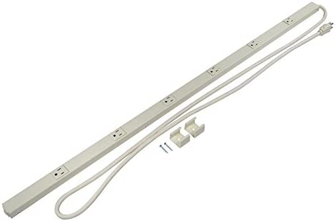 Wiremold Multi Outlet Power Strip, Plugmold, Plug In Strip with 6 Outlets, Ivory, PM36C