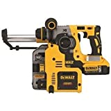 "DEWALT DCH273P2DHO 20V MAX XR Brushless 1"" L-Shape SDS Plus Rotary Hammer Kit with On Board Dust Extractor"