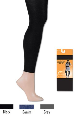 Just My Size 89003 Comfort Top Legging - Black - 4X
