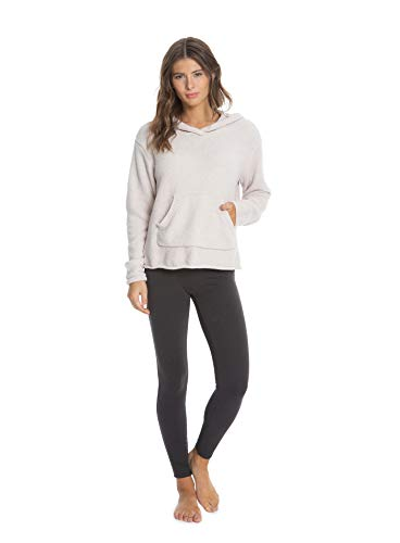 Barefoot Dreams Women's Heathered Pullover Hoodie, Casual Polyester Hoodie, Fall Jackets, Great for Gym, Cozy Ladies Hoodies