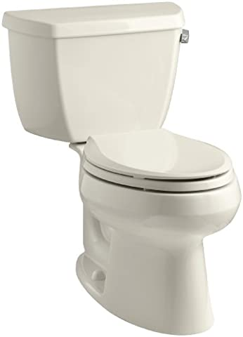 Kohler K-3575-RA-47 Wellworth Classic 1.28 gpf Elongated Toilet with Class Five Flushing Technology and Right-Hand Trip Lever, - Kohler Class Five Flushing System