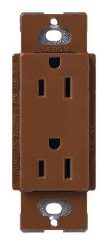 Lutron SCR-15-SI Satin Colors 15A Electrical Socket Duplex Receptacle, Sienna