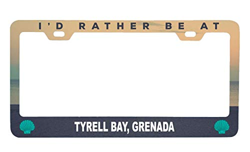 R and R Imports Tyrell Bay Grenada Sea Shell Design Souvenir Metal License Plate Frame (Imports Grenada)