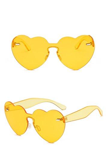 Ablaze-Jin sunglasses The new love sunglasses one piece heart peach sunglasses fashion marine glasses