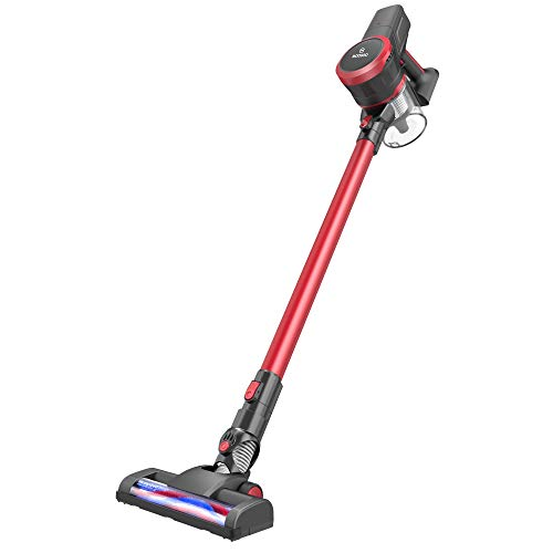 MOOSOO Cordless Vacuum Cleaner, 2 in 1 Stick Vacuum with 17Kpa Powerful Suction, Lightweight Handheld Vacuum, K17