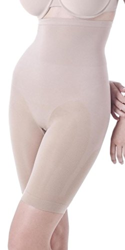 Lipo in a Box Firm Control Highwaist Mid Thigh Brief 1659101 Nude Medium