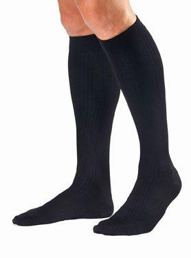 Jobst for Men Knee High Compression Socks - 30-40mmHg - Navy - Medium - 115108115113 (Jobst Microfiber Knee High Socks)