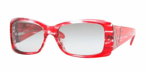 Vogue Gray Lens (Vogue VO 2560 S (164411) STRIPED RED w/ GRAY GRADIENT lens 52mm 15mm)