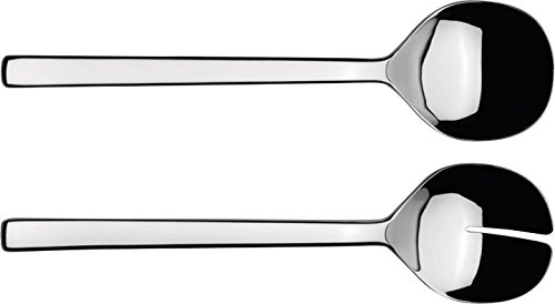Alessi''Ovale'' Salad Set in 18/10 Stainless Steel Mirror Polished, Silver by Alessi