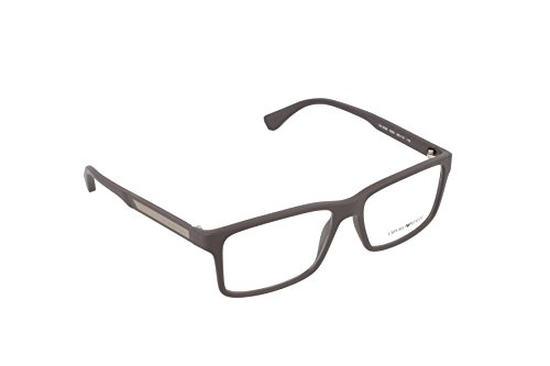 Emporio Armani EA 3038 Men's Eyeglasses Brown Rubber - Rubber Frames Eyeglass