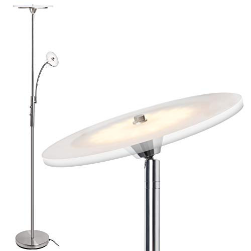 Reading Light Torchiere - Floor Lamps, SUNLLIPE Floor Lamps with Reading Light, Modern LED Torchiere 18W Dimmable Adjustable, 71.5