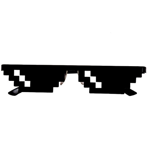 Waymine Thug Life Glasses 8 Bit Pixel Deal with IT Sunglasses Unisex Sunglasses Toy Educational Toy Gift for Kids (A)