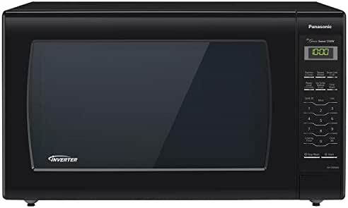 Panasonic Microwave Oven NN-SN936B Black Countertop with Inverter Technology and Genius Sensor, 2.2 Cu. Ft, 1250W