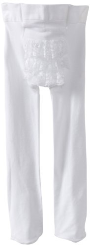 Country Kids Baby-Girls Infant Microfiber Ruffle Rhumba Tights 2 pair, White, 0-12 Months Ruffle Rhumba Tights