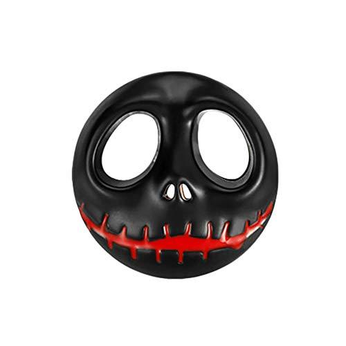 lightclub Pumpkin Car Metal Sticker Motorbike Accessory Halloween Skeleton Auto Decal Black ()