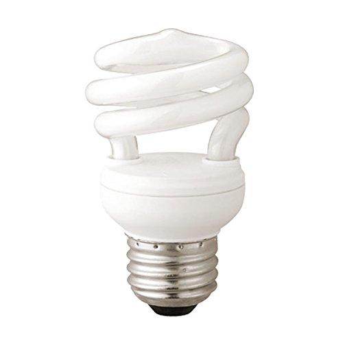 9W 2700K T2 Mini Spiral - Compact Fluorescent Light Bulb (4-pack)