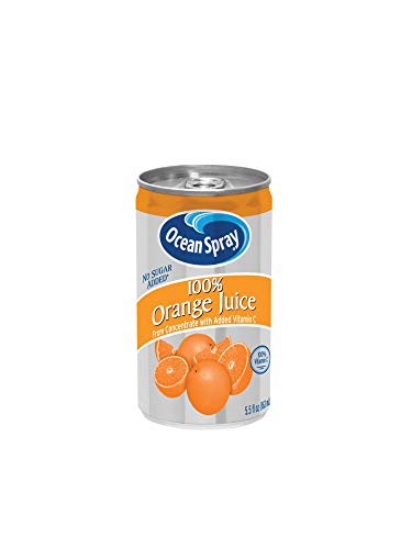Ocean Spray 100% Orange Juice,  5.5 Ounce Mini Cans (Pack of 48)