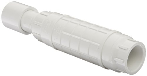 Spears S119 Series PVC Pipe Fitting, Repair Coupling with EPDM O-ring, White, 1