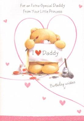 Image Unavailable Not Available For Colour Daddy Happy Birthday From Your Little Princess Greetings Cards
