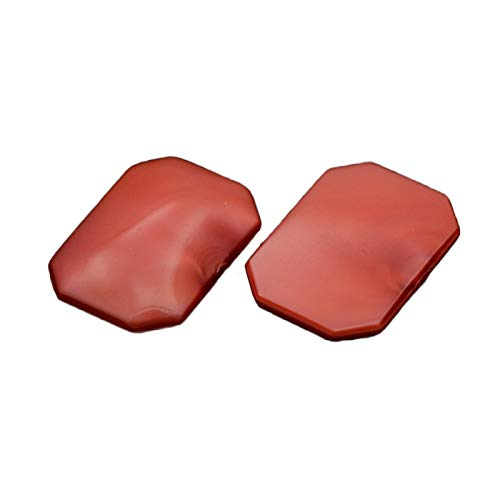 (B.D craft 250 pcs Fire Brick Faceted Rectangle Taiwan Acrylic Cabochons for Jewelry)