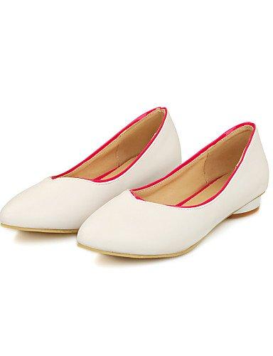 Flats cn35 de uk3 punta mujer Toe sintética rosa PDX us5 blue de 5 Casual piel azul talón 5 amarillo negro zapatos blanco eu36 plano vAdxqw8g