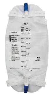 - McKesson Urinary Leg Bag - 4605EA - 1,000 mL, 1 Each / Each