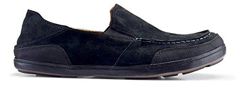 Olukai Puhalu Leather Shoe - Mens Black/Black VcM9qwz