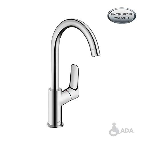 hansgrohe Logis  Modern 1-Handle  12-inch Tall Bathroom Sink Faucet in Chrome, 71130001