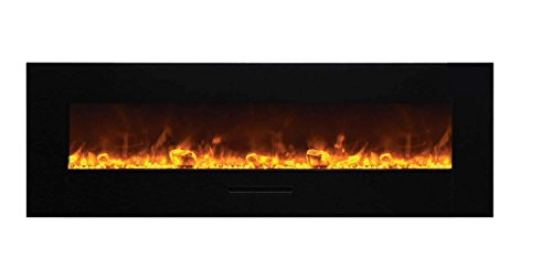 Cheap Amantii WM-FM-60-7023-BG-ICE Wall Mount / Flush Mount Series Electric Fireplace with Ice Media Kit 60-Inch Black Friday & Cyber Monday 2019