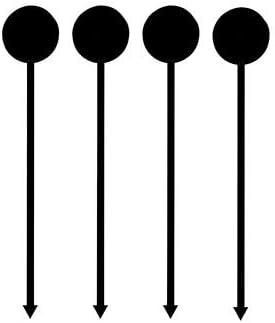 """1000 Longdrink-Sticks 17 cm schwarz """"Münze"""""""