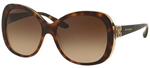 Bvlgari BV8171B 537913 Havana/Brown BV8171B Round Sunglasses Size 57mm