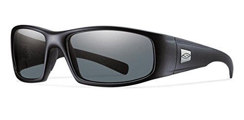 (Smith Optics Hideout Tactical Sunglass with Black Frame (Gray Lens))