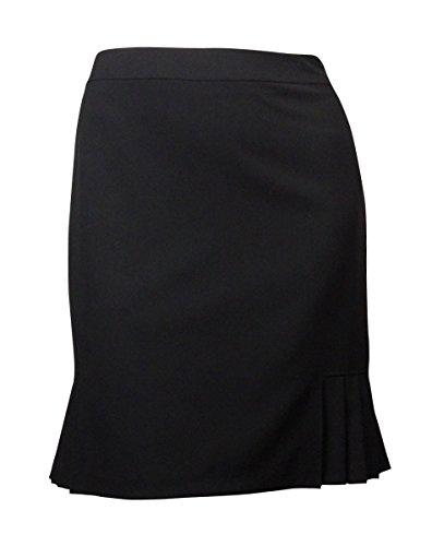 Black Pinstripe Skirt Suit (Tahari ASL Womens Henry Pleated Solid Straight Skirt Black 2)