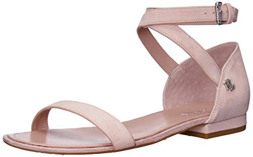 Lauren Ralph Lauren Women's Davison Flat Sandal Pearl Pink 7.5 B US