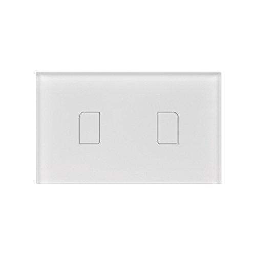 BroadLink TC2 Smart Wall Switch 2gang Remote Control - Crystal Mhz