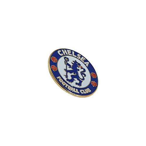 Chelsea FC Official Metal Football Crest Pin Badge (One Size) (Blue/White/Red)