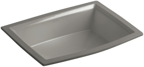 Kohler K-2355-K4 Vitreous china undermount Rectangular Bathroom Sink, 22 x 16.88 x 8.88 inches, Cashmere