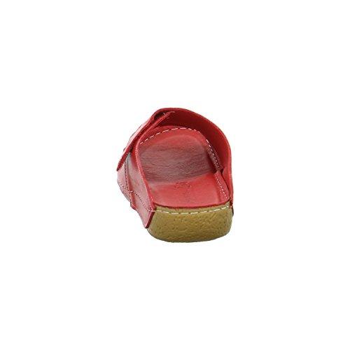 Andrea Conti 0773402021rot - Zuecos de Piel para mujer Rojo