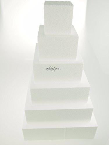 rackcrafts.com Foam Styrofoam EPS Pyramid Dummy Cake Towers Display Stand Square Circle Wedding (Pyramid Tower)
