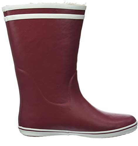 Women''s Fur Malouine Boots Aigle Wellington 001 Cinabre Red 4qawfT