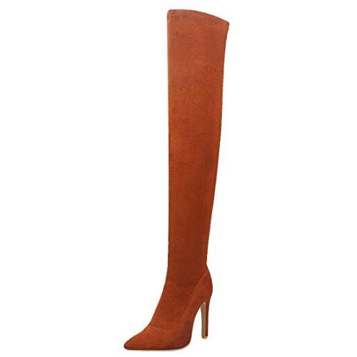 Damen Classic Brown Boot AIYOUMEI AIYOUMEI Boot Classic Damen AIYOUMEI Brown Damen 6Swx5qH
