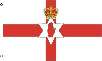 ULSTER FLAG, 3'x5' Irish banner, Northern Ireland