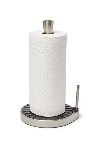 (Umbra Spin Click N Tear Paper Towel Holder Black/Nickel)