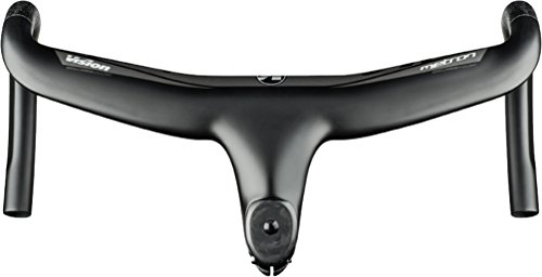- Vision Metron 5D Road Handlebar with Integrated 110mm Stem, Drop: 125mm, Reach: 80mm, W: 420mm