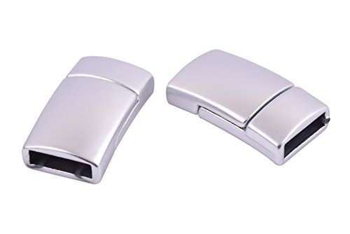 - KONMAY 5 Sets Magnetic Jewelry Clasps Rectangle Shaped, Matte Silver, 11.0x3.0mm