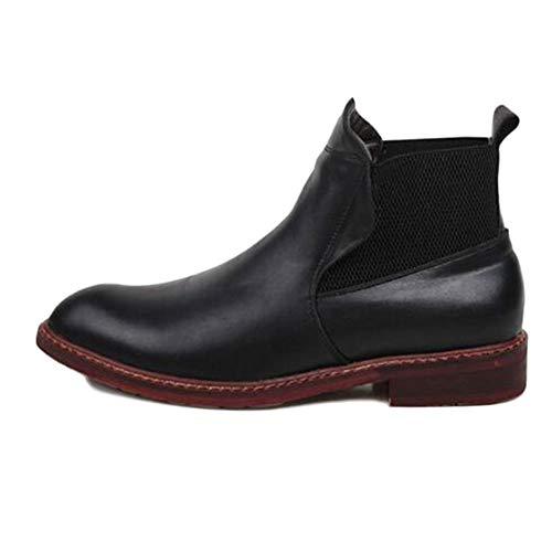Autunno Matrimonio Uomo Black Inverno Classico Cotone Nero di Pelle High Brogue Velluto Stivali Top Plus E Sicurezza Chelsea Stivali Boots n1AxIwHqw8