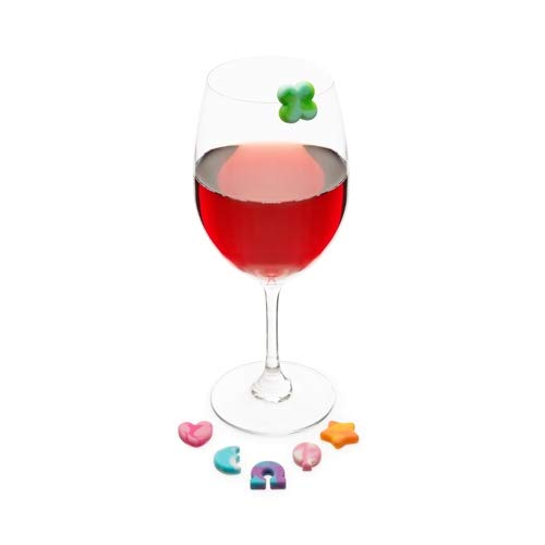 Truefabrications Drink Markers for Women 6pc Nostalgic Lucky Wine Charm for Glasses - Set of 12 (Sold by Case, Pack of 12)
