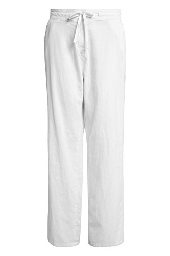 Mélangé Lin Parallel Blanc Pantalon 48 20L Femme en Long Next EU UK tfIww
