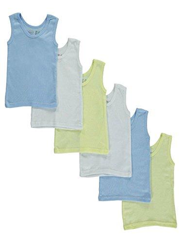 bambini Baby Boys' 6-Pack Tank Tops - Blue, 6-12 months/14-18 lbs Bambini Tank Top