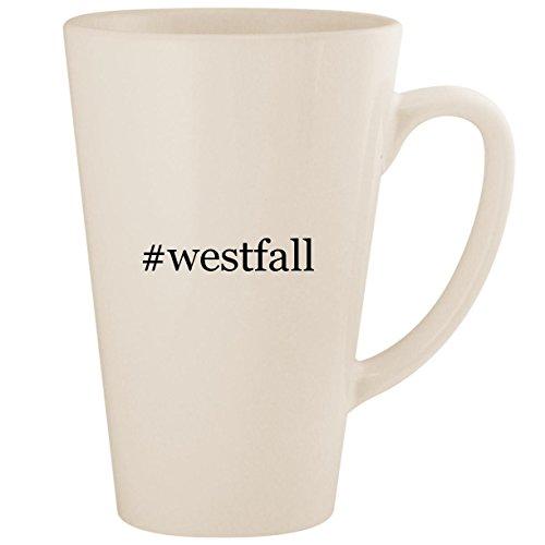 (#westfall - White Hashtag 17oz Ceramic Latte Mug Cup)